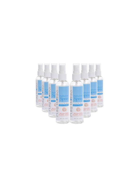 Case of eight 4oz Antibacterial Skin Spray
