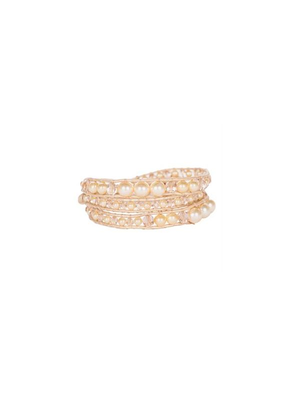 Golden Pearl Beaded Wrap