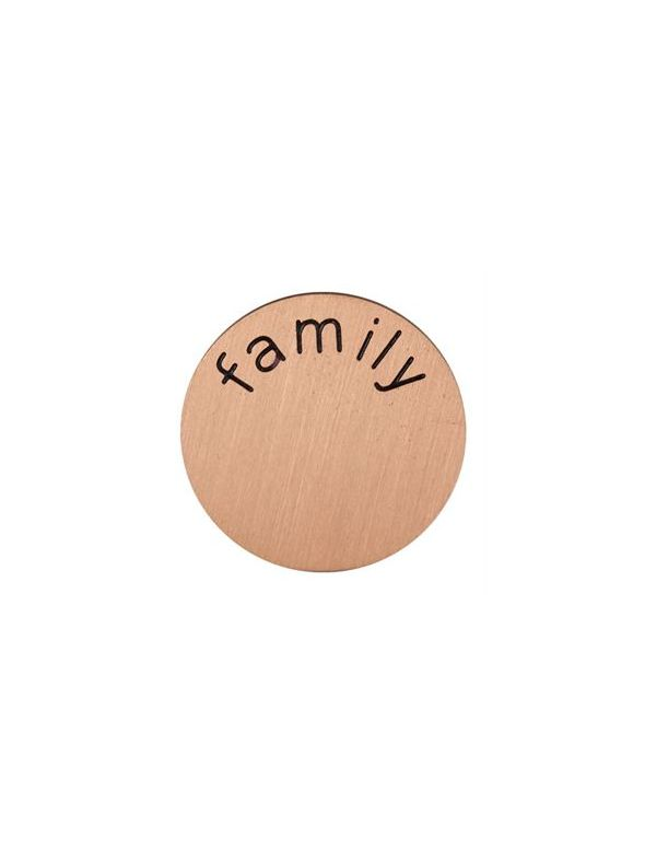 'Family' Mini Rose Gold Coin