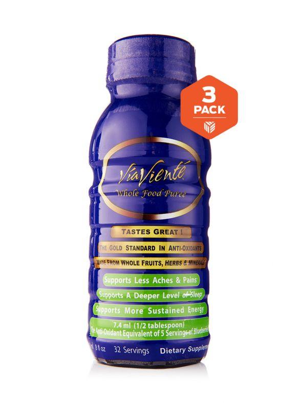 ViaViente Whole Food Puree 3 pack  (3-8oz Bottles)